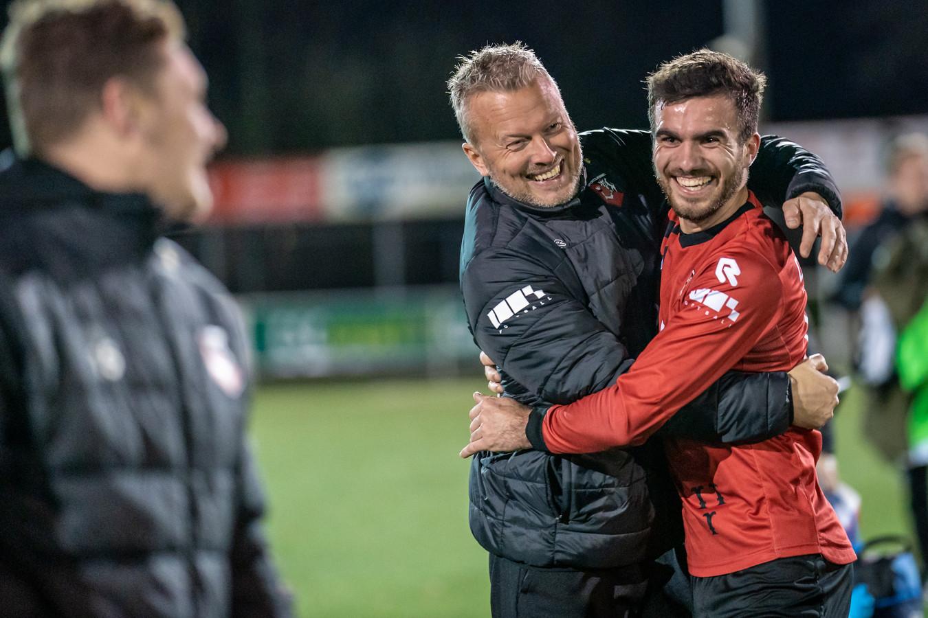 SC Bemmel - hier met Luke Roelofs-  is door naar de volgende ronde na de 2-1 winst op NEC.