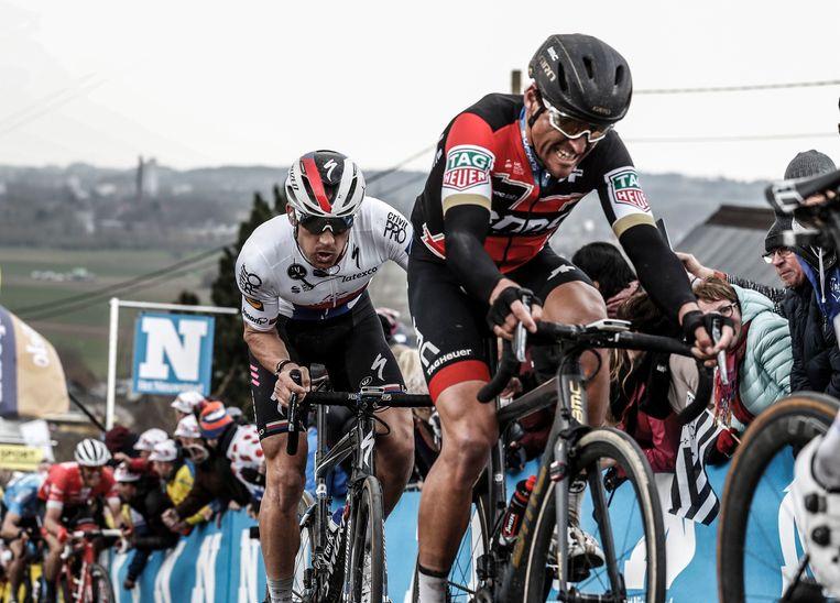 Greg van Avermaet in actie tijdens de Ronde van Vlaanderen.