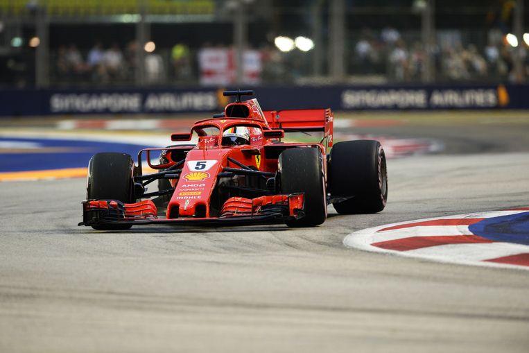 Sebastian Vettel greep naast de pole.