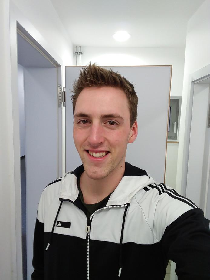 Mike Silhan, oprichter van de eerste vegan studentenvereniging in Groningen.