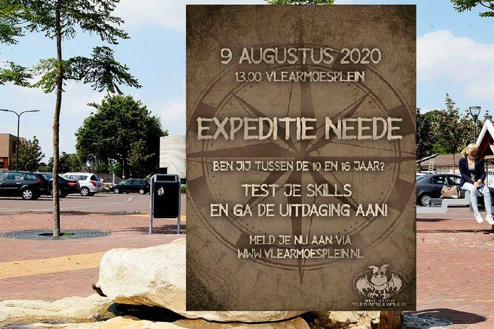 Het Vlearmoesplein is de centrale plek voor 'Expeditie Neede'voor jongeren tussen de 10 en 16 jaar.