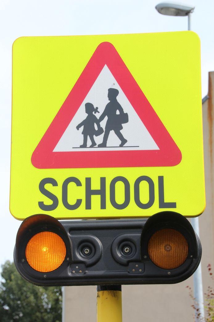 School, schooluitgang, schoolpoort