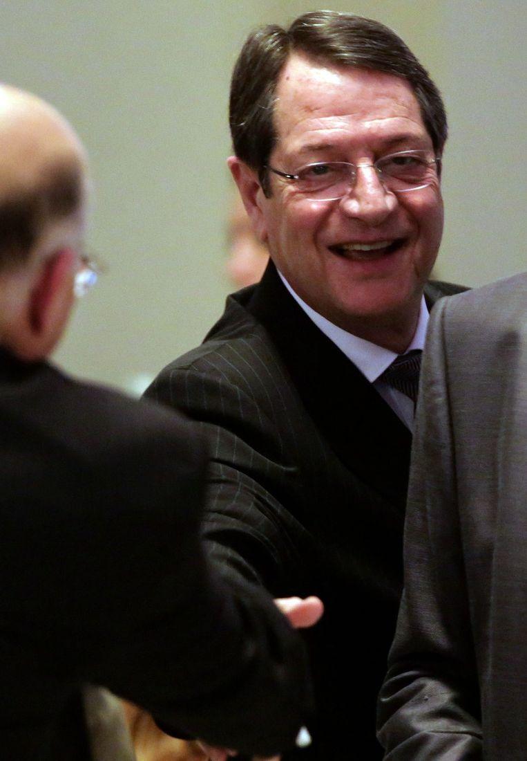 De Cypriotische president Nikos Anastasiades. Beeld afp