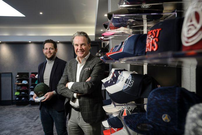 Thijs Wiegerink (links), directeur van Buttonboss en Robin Vogel, eigenaar van de Buttonboss Group.