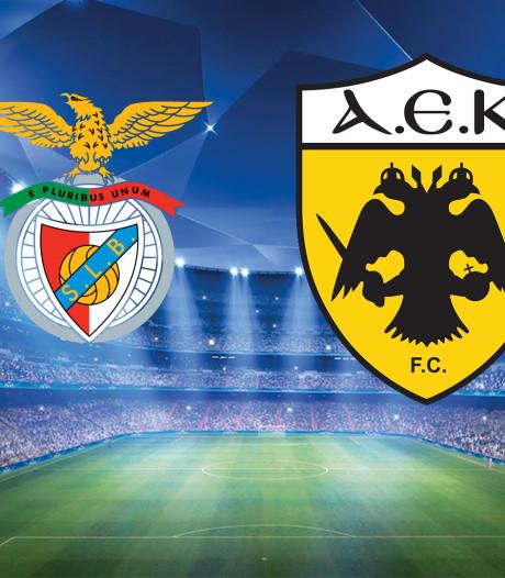 Puntloos AEK wil bij Benfica de eer redden