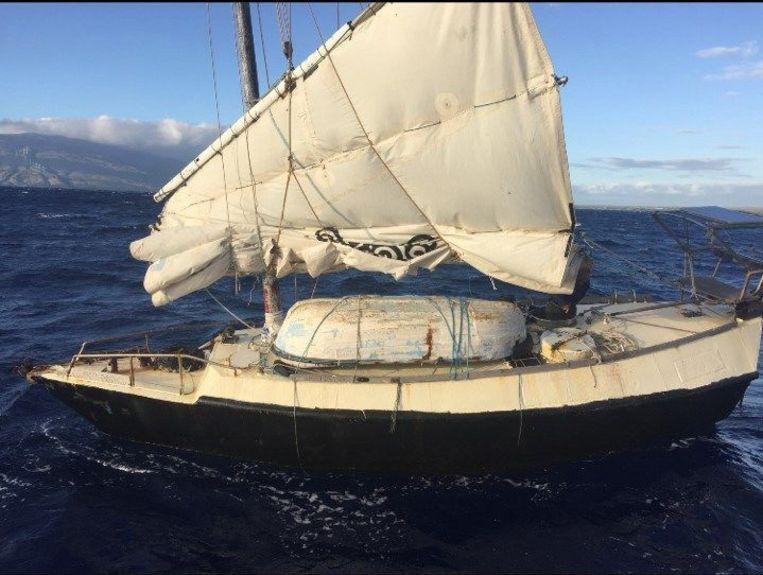 De 62-jarige Australiër was onderweg met een zelfgemaakte boot.