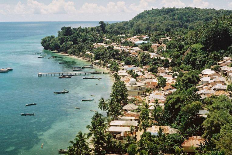 Pulau Run, wingewest in Indonesië. Beeld rv
