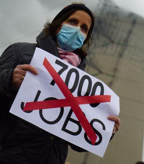 Des centaines de travailleurs de Doel manifestent contre la fermeture des centrales nucléaires