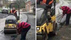 Buurtbewoner heeft zo zijn manier om asfaltering van Eikenberg te dwarsbomen