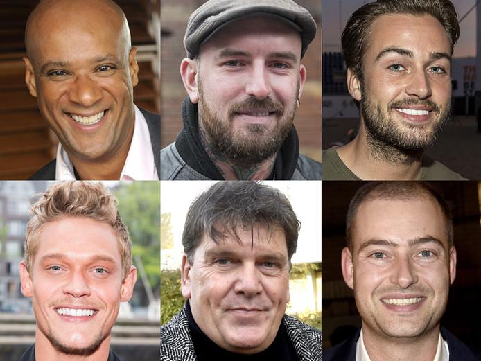 vlnr (boven): Jimmy Geduld, Ben Saunders en Dave Roelvink. Onder (vlnr): Ferry Doedens, Frank Masmeijer en Lange Frans.