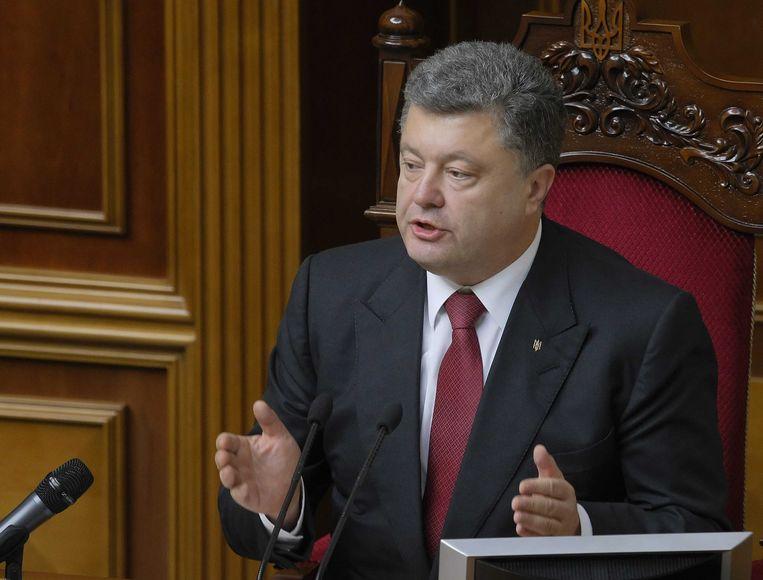 President Petro Porosjenko. Beeld epa