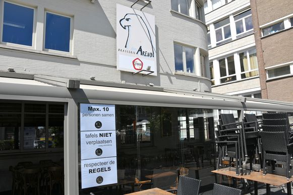 Aan café Den Arend aan het Polenplein hangen de spelregels al klaar en duidelijk uit.