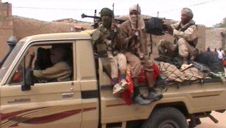 Rebellen in de Malinese stad Timboektoe. Beeld afp
