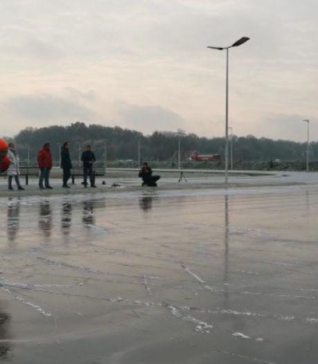 In Winterswijk kan er na één vorstnacht al geschaatst worden op natuurijs