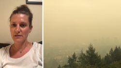"""""""Al vijf dagen geen zon meer gezien"""": Vlaamse Lindsay over bosbranden in Oregon"""
