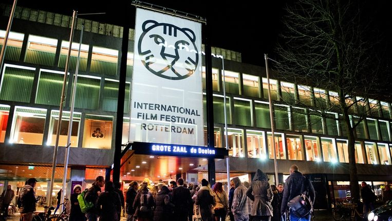 Het Schouwburgplein als decor van het International Film Festival Rotterdam Beeld ANP