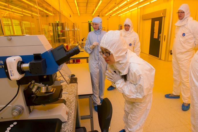 De cleanroom van Smart Photonics op de High tech Campus in Eindhoven.