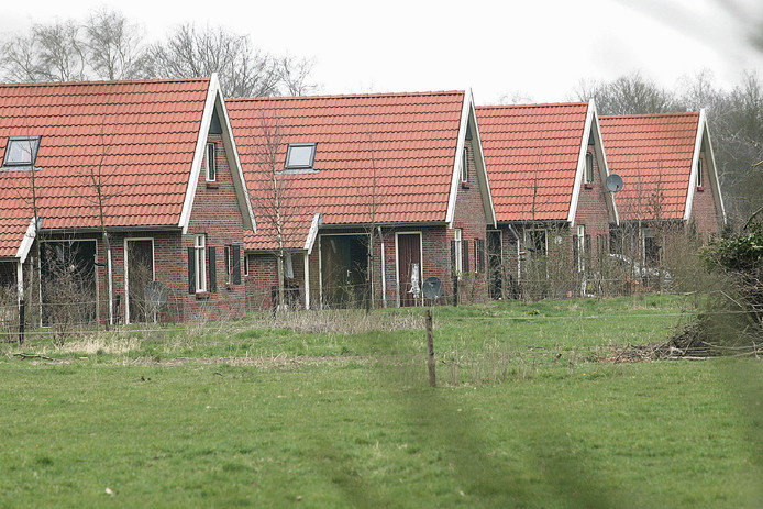 De recreatiehuiszen op vakantiepark het Noordijkerveld bij Neede. Foto Jan Houwers
