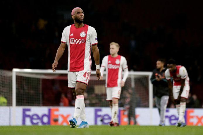 De teleurstelling is van het gezicht van Ryan Babel af te lezen na Ajax- Getafe.