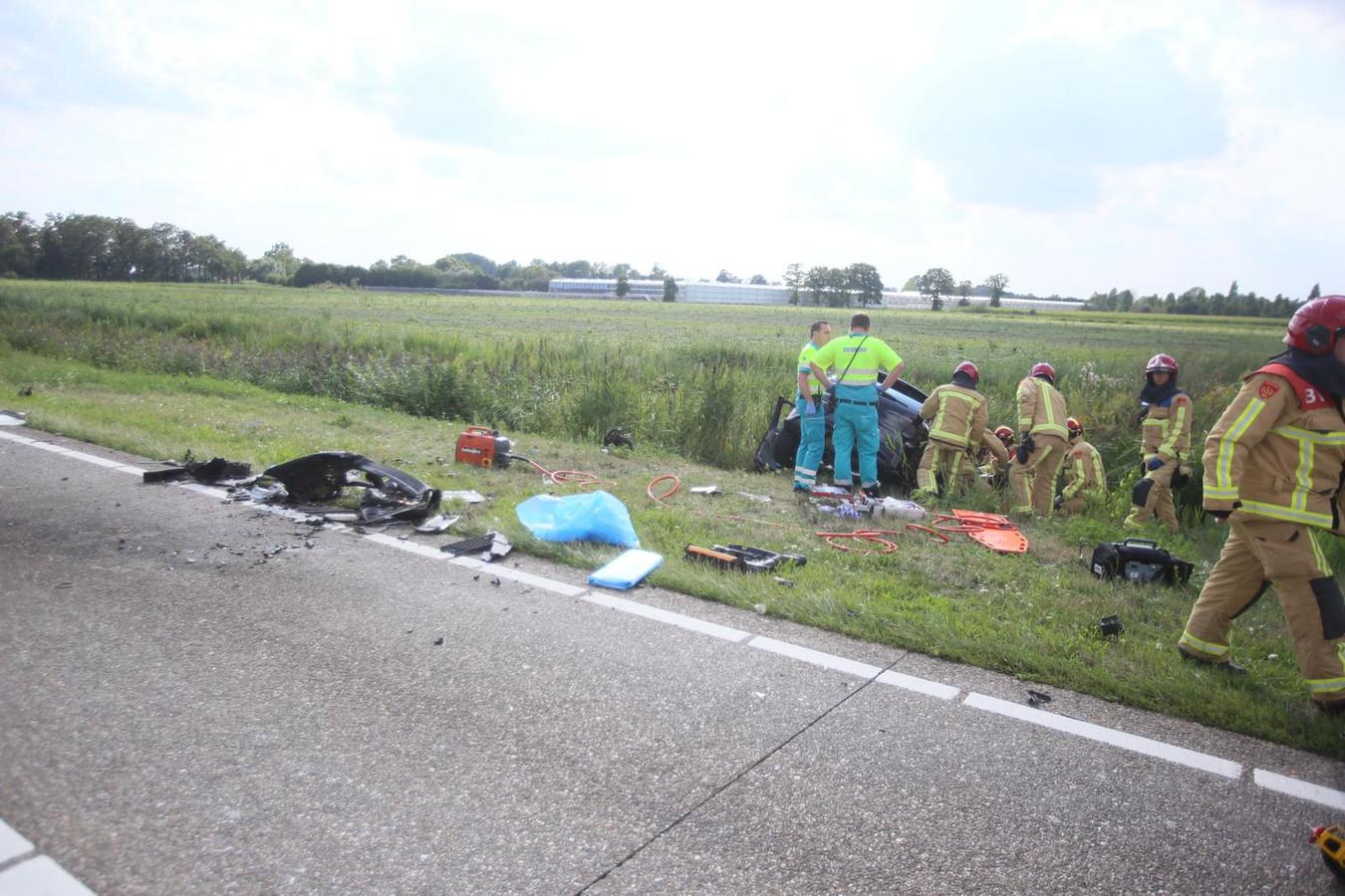 Ongeluk op N279 Aarle Rixtel