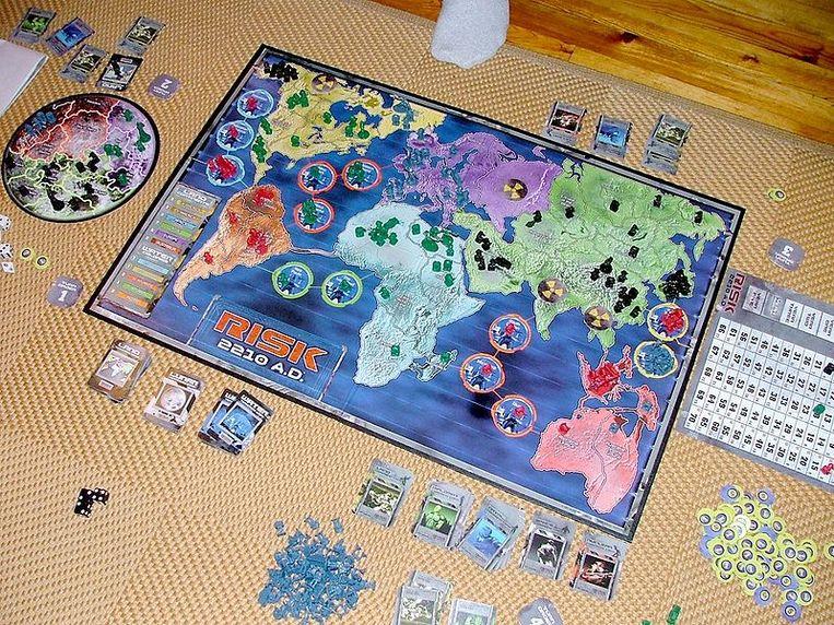 Het spelbord van Risk 2210.