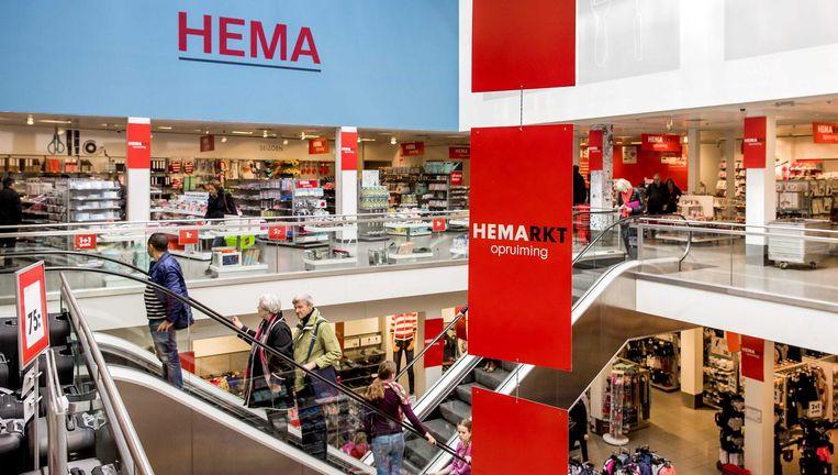 Een HEMA-filiaal in Amsterdam. Doordat Jegen tijdelijke outlets opende, kwam er ruimte voor nieuwe collecties. Beeld Koen van Weel / ANP