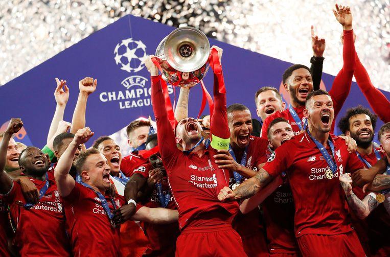 Liverpool won vorig jaar de Champions League.