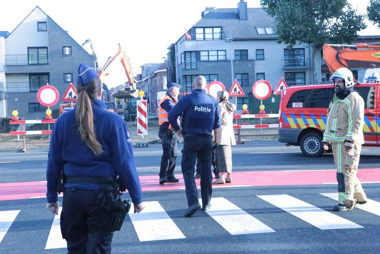 De politie stelde een veiligheidsperimeter in.