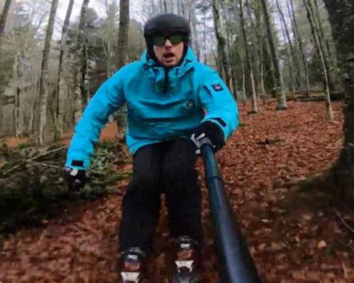 Anthony Robert skie même lors de l'automne