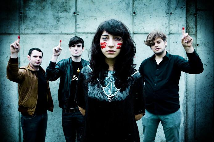 De Belgische band Intergalactic Lovers is een van de ruim zeventig acts tijdens DDW Music in Eindhoven.