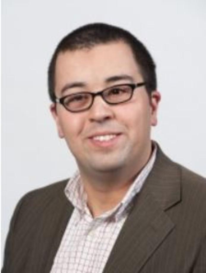 Nourredine El Mansouri, inmiddels raadslid van GroenLinks.