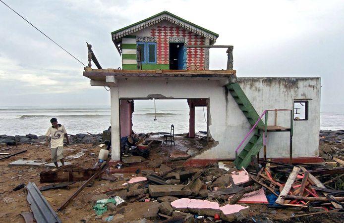 28 december 2004: beeld uit Sri Lanka na de verwoestende tsunami.