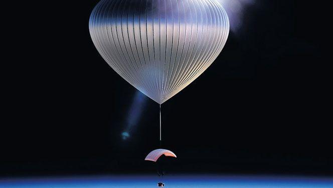 Impressie van de Voyagerballon in de ruimte