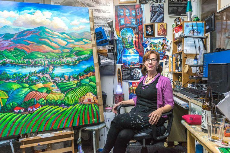 Kunstenaar Laura Zerebeski: 'Ik wil Vancouver tot leven wekken, op een manier die fotografen niet kunnen.' Beeld null