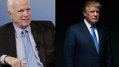 Donald Trump niet naar begrafenis John McCain
