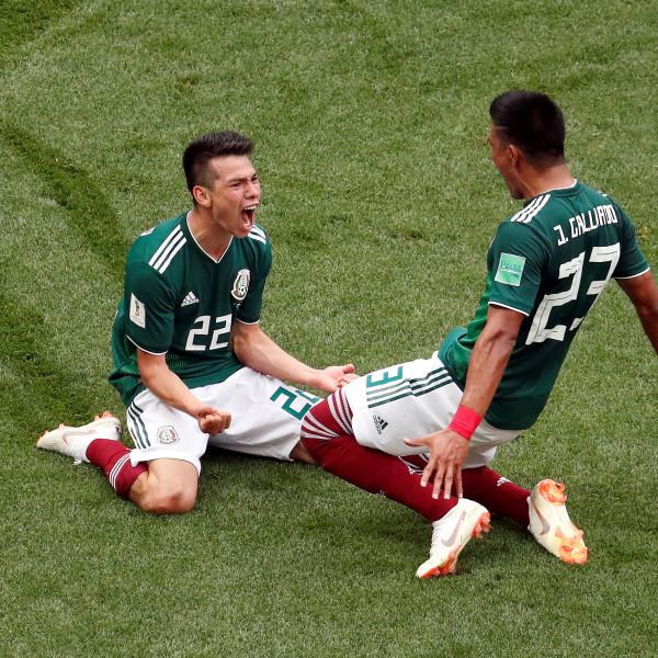 **Mexico klopt Duitsland door doelpunt Lozano**