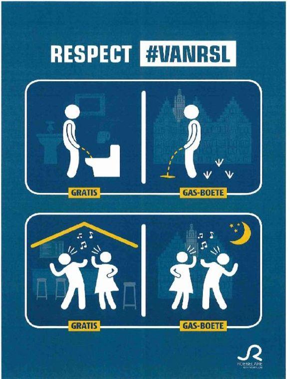 Met een sensibiliseringscampagne wil Stad Roeselare de overlast van het uitgaan voorkomen.