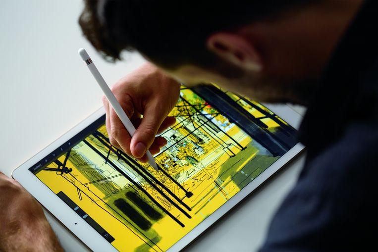 De iPad Pro met de Apple Pencil. Beeld Apple