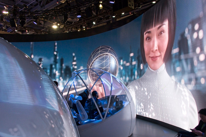 Beeld van de Consumer Electronics Show in Las Vegas.