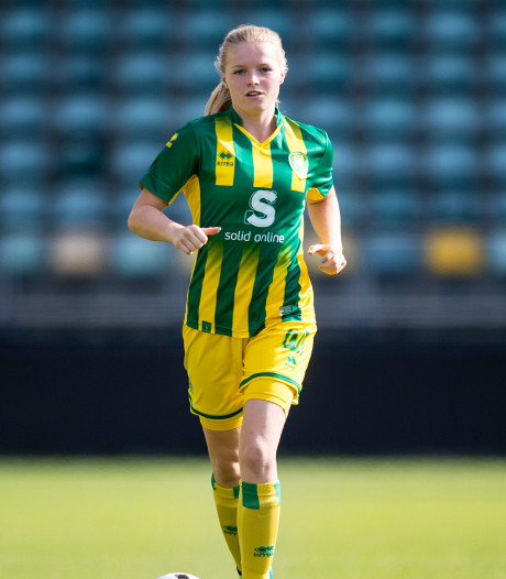 Nadine Noordam bekroont rentree bij ADO met een doelpunt