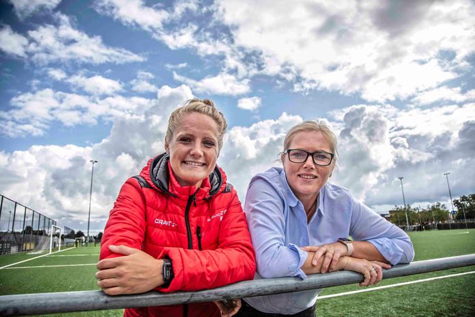 Anouk Bourgonje en Anke van Vilsteren trekken de kar voor het vrouwenvoetbal bij Be Quick'28.