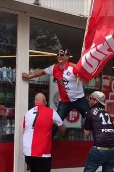 Terneuzense supporter brengt Dirk-vlag terug naar supermarkt