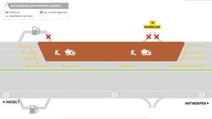 E313 krijgt nieuwe asfaltlaag tussen Wommelgem en Ranst