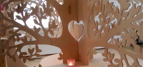 Troostende woorden aan takken van IJsselsteinse troostbomen helpen je door de coronacrisis heen