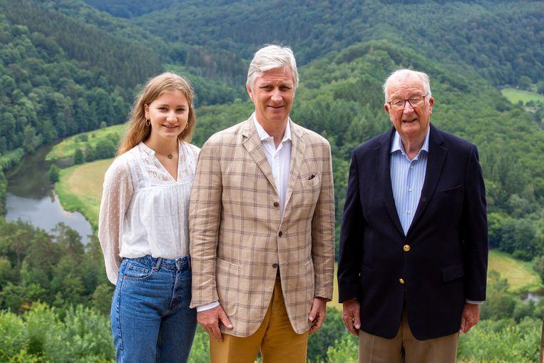 Kroonprinses Elisabeth, koning Filip en koning Albert II.