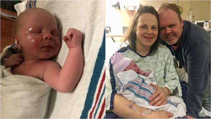 Het gisteren geboren zoontje.