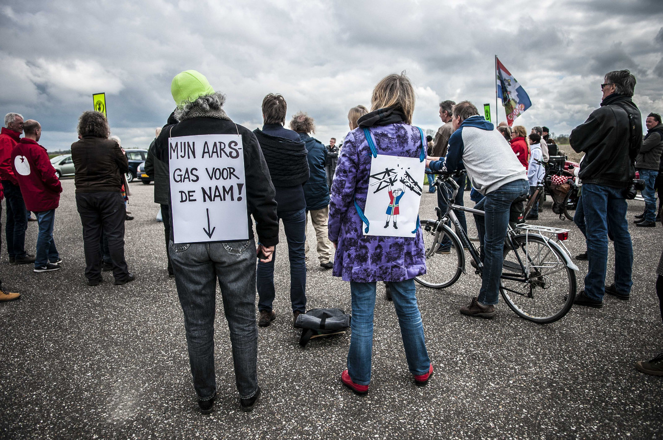 Een eerder protest tegen de gaswinning.