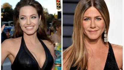 Jennifer Aniston en Angelina Jolie reiken een Golden Globe uit