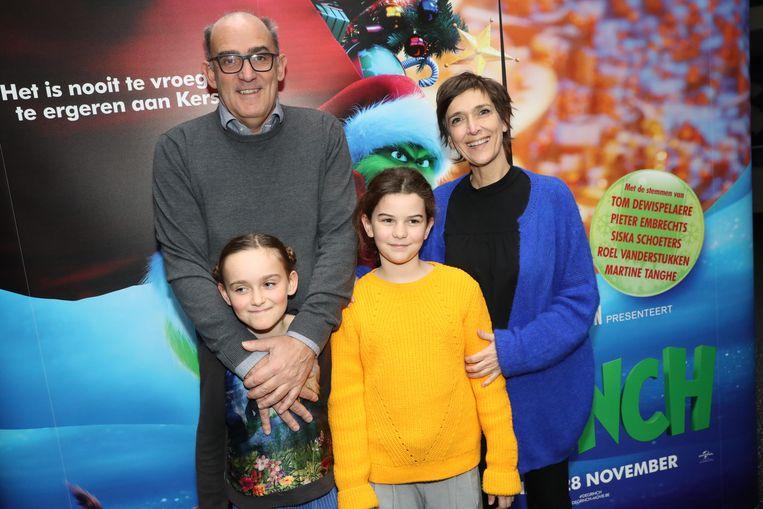 Anja Daems en partner Fred met dochter Anna-Julia en vriendinnetje Josephine