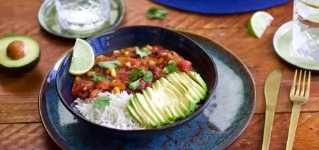 Wat Eten We Vandaag: Chili sin carne met zoete aardappel